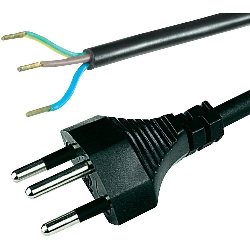 2 mtr kabel mit schweizer stecker der hollaender. Black Bedroom Furniture Sets. Home Design Ideas